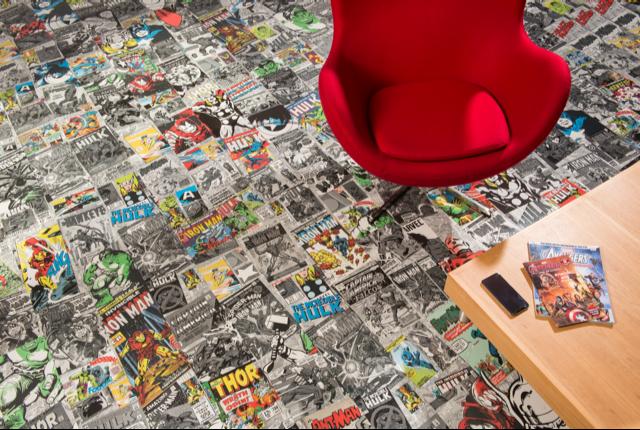 Marvel 174 Designer Flooring Retro Comic Book Cover Design